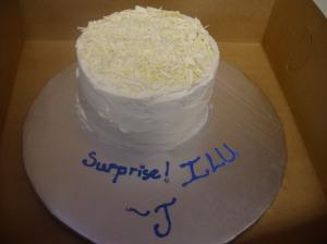 Surprise bday cake